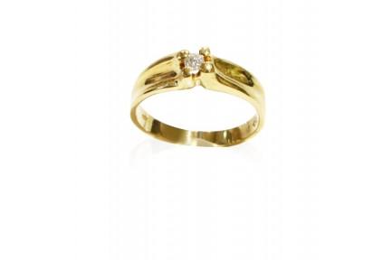Sortija oro bicolor con brillantes