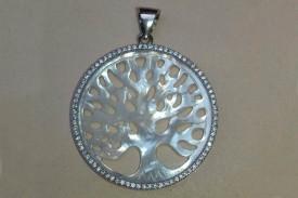 Medalla plata arbol de la vida