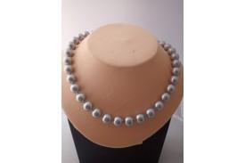 Collar Perlas Grises