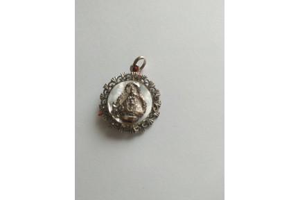 Medalla Plata Virgen de la Cabeza Nácar y Calada