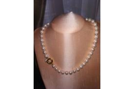 Collar Perlas Australianas con Broche de Oro